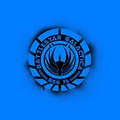 Battlestar Galactica Grunge - Dark Blue Line by lovecrafted