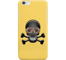 Psychedelic Skull And Crossbones iPhone Case/Skin