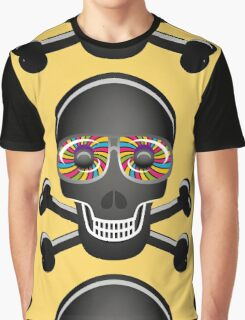 Psychedelic Skull And Crossbones Graphic T-Shirt
