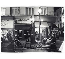 Rickshaws outside Angelucci's (Soho, London) Poster