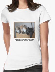 Cute Kittens Womens Fitted T-Shirt