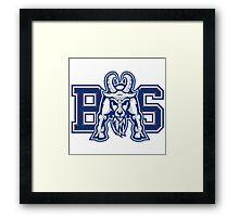 Blue Mountain State logo Framed Print
