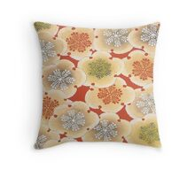 Rhumba of Blossoms Throw Pillow