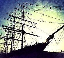 Abstract sailing ship by derek blackham