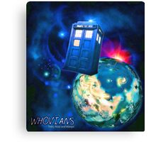 Whovians Best Facebook Group Art Dedication (07/2016) Canvas Print