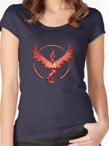 Team Valor Metallic Emblem Women's Fitted Scoop T-Shirt