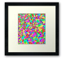 candy pixel Framed Print