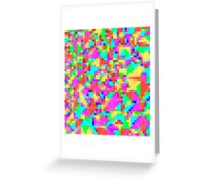 candy pixel Greeting Card