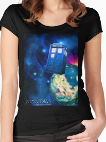 Whovians Best Facebook Group Art Dedication (07/2016) Women's Fitted Scoop T-Shirt