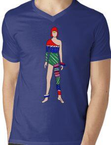 Retro Vintage Fashion 3 Mens V-Neck T-Shirt