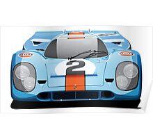"Porsche 917 No.2 ""Gulf Livery"" Poster"