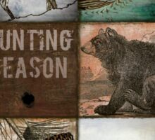 Hunting Season Patchwork Sticker
