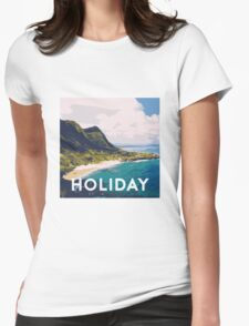 Beach holiday landscape Womens Fitted T-Shirt