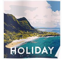 Beach holiday landscape Poster
