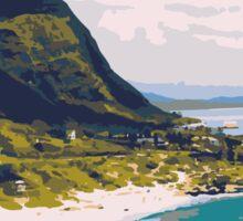 Beach holiday landscape Sticker
