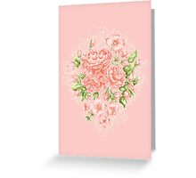 Rococo Wonderland: The Baby Pink Roses Greeting Card