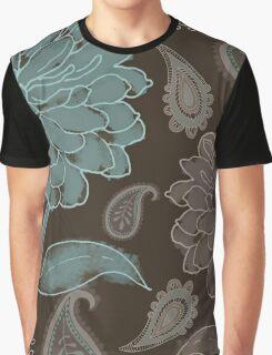 Mocha Paisley Graphic T-Shirt