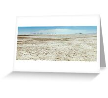 Spiral Jetty Location Dry Landscape Greeting Card