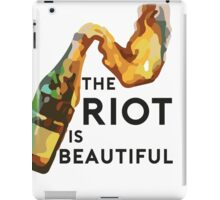 The riot is beautiful iPad Case/Skin