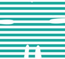 shamrock stripes Sticker