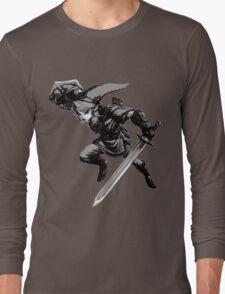 twilight princess link monochrome Long Sleeve T-Shirt