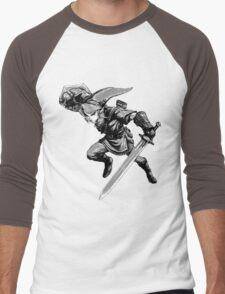 twilight princess link monochrome Men's Baseball ¾ T-Shirt