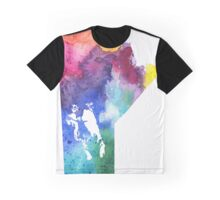 Watercolor Map of Manitoba, Canada in Rainbow Colors - Giclee Print of My Own Watercolor Painting Graphic T-Shirt