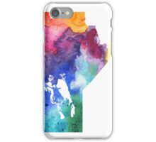 Watercolor Map of Manitoba, Canada in Rainbow Colors - Giclee Print of My Own Watercolor Painting iPhone Case/Skin
