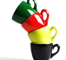 Colored Cups by Erik Ketting