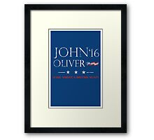 John Oliver 2016 Distressed Framed Print