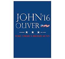 John Oliver 2016 Distressed Photographic Print