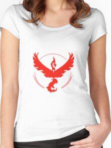 Pokemon Go Team Valor Women's Fitted Scoop T-Shirt