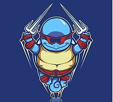 Ninja Squirtle - Phone Case by TrulyEpic