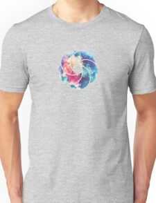 Geometry Triangle Wave Multicolor Mosaic Pattern - (HDR - Low Poly Art) Unisex T-Shirt