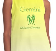 Gemini - Wisely Contented Contrast Tank