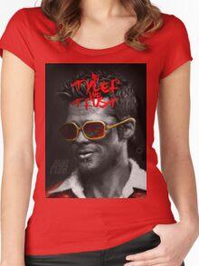 Tyler Durden - Illustration Women's Fitted Scoop T-Shirt