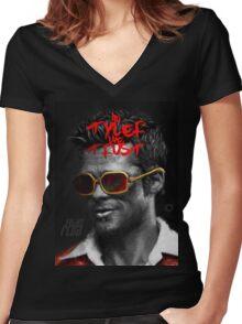 Tyler Durden - Illustration Women's Fitted V-Neck T-Shirt