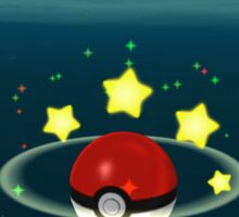 Pokemon Go Poke Ball Stars - Night time Capture Sticker