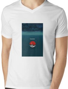 Gotcha! Pokemon Go Poke Ball - Night time Capture Mens V-Neck T-Shirt