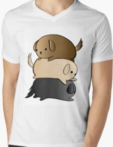 Lots of Lovable Labs Mens V-Neck T-Shirt