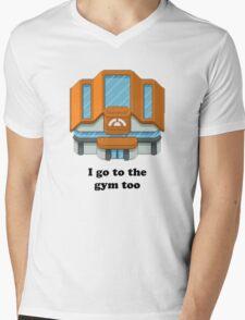 Pokemon Gym Mens V-Neck T-Shirt