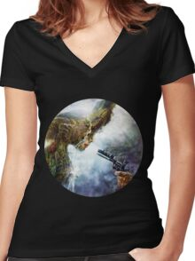 Betrayal Women's Fitted V-Neck T-Shirt