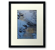 Evening Sky Reflected In Ice Framed Print