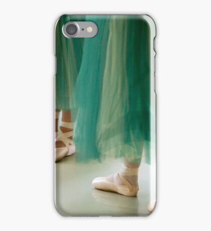 Three ballerinas in green tutus iPhone Case/Skin
