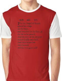 Archer - Pam's tattoo (Lord Byron poem) - black text Graphic T-Shirt