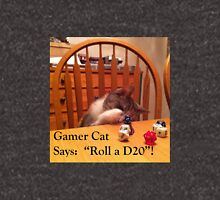 Gamer Cat Roll A D20 Unisex T-Shirt