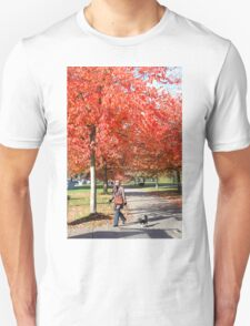 Walking the Dog in a Park, Vancouver City, Canada  Unisex T-Shirt