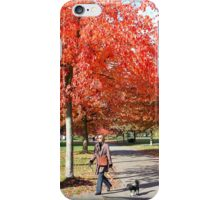 Walking the Dog in a Park, Vancouver City, Canada  iPhone Case/Skin