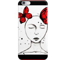 Red Butterfly Dreams iPhone Case/Skin