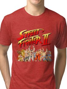 Street Fighter II Arcade Group Shot Tee  Tri-blend T-Shirt